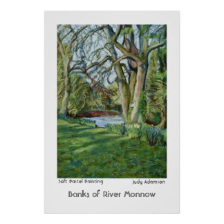 Bank of River Monnow, Allt yr Ynys: Poster/Print Poster