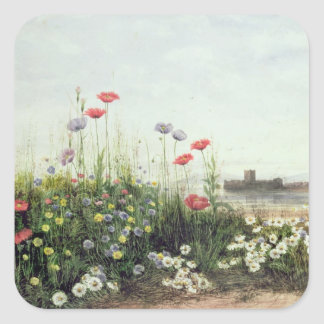 Bank of Summer Flowers Square Sticker