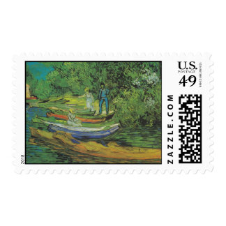 Bank of the Oise at Auvers by Van Gogh Postage