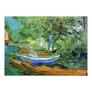 Bank of the Oise at Auvers by Vincent van Gogh Card