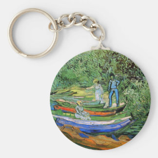 Bank of the Oise at Auvers by Vincent van Gogh Keychain
