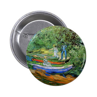 Bank of the Oise at Auvers by Vincent van Gogh Pinback Button
