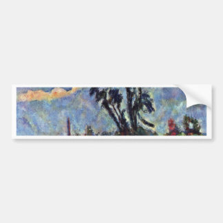 Bank Of The Oise By Paul Cézanne (Best Quality) Car Bumper Sticker
