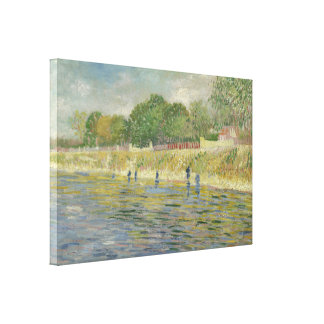 Bank of the Seine by Vincent Van Gogh Canvas Print