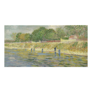 Bank of the Seine by Vincent Van Gogh Card