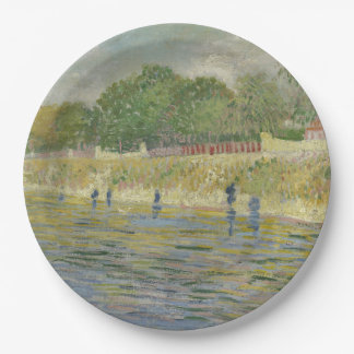 Bank of the Seine by Vincent Van Gogh Paper Plate