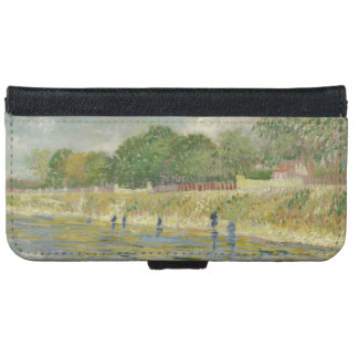 Bank of the Seine by Vincent Van Gogh iPhone 6 Wallet Case