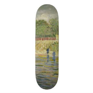 Bank of the Seine by Vincent Van Gogh Skateboard Deck