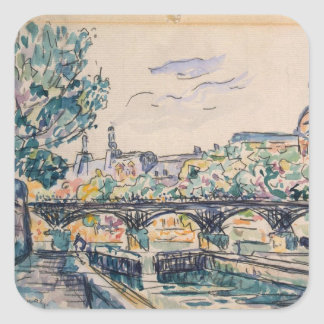 Bank of the Seine near the Pont des Arts Square Sticker