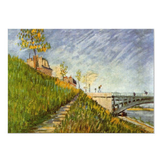 Bank of the Seine with Pont de Clichy by van Gogh Card