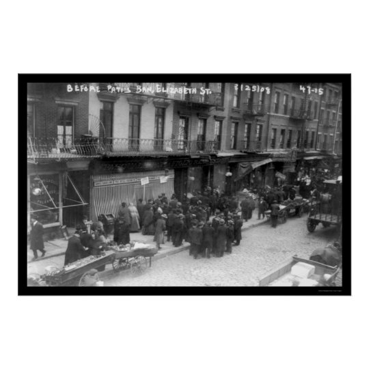 Bank Panic in New York City 1908 Poster