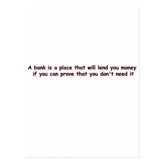 bank postcard