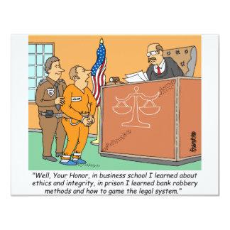 Bank Robber /Judge /Financial Custom Invitations