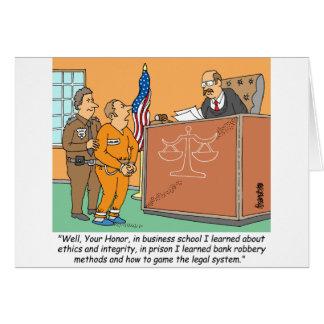 Bank Robber /Judge /Financial Greeting Card