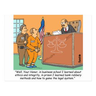 Bank Robber /Judge /Financial Postcard