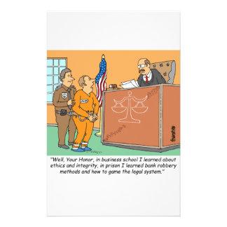 Bank Robber /Judge /Financial Custom Stationery