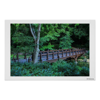 Bank Rock Bridge, Central Park, New York City Poster