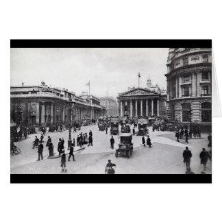 Bank & Royal Exchange, London Vintage Card