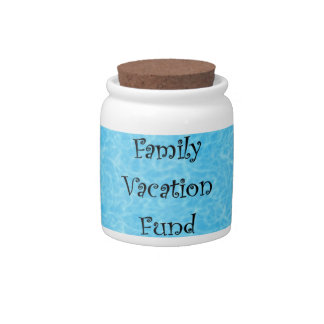Bank - Spare Change - FAMILY VACATION FUND Candy Jars