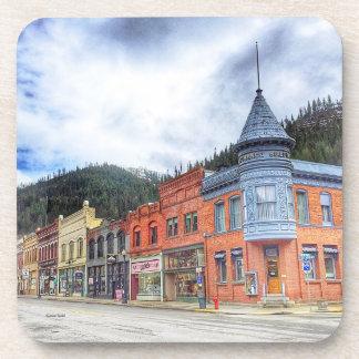 Bank Street Wallace Idaho Drink Coaster