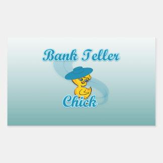 Bank Teller Chick #3 Rectangular Sticker