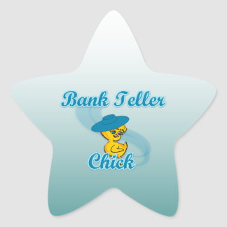 Bank Teller Chick #3 Star Sticker