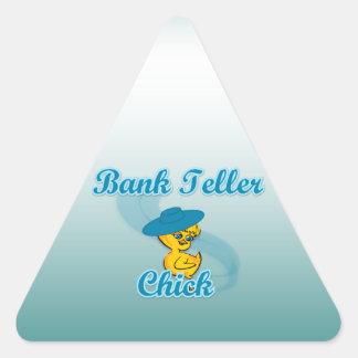 Bank Teller Chick #3 Triangle Sticker