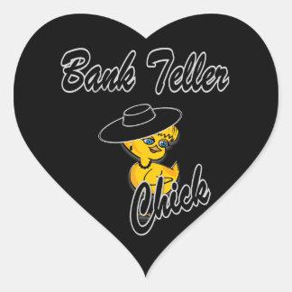 Bank Teller Chick #4 Heart Sticker
