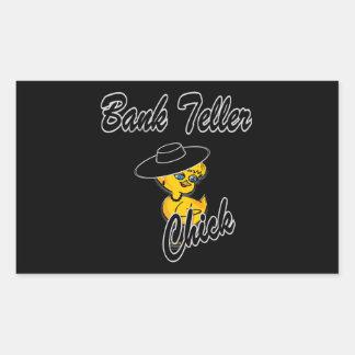 Bank Teller Chick #4 Rectangular Sticker