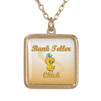 Bank Teller Chick Gold Plated Necklace