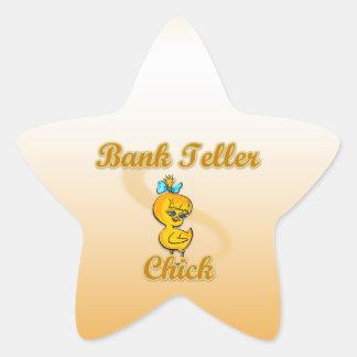 Bank Teller Chick Star Sticker