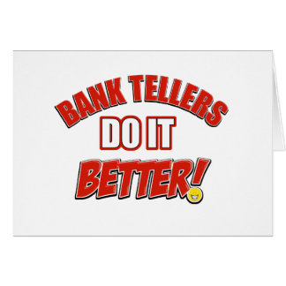 Bank Teller designs Card