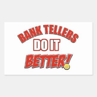 Bank Teller designs Rectangular Sticker