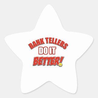 Bank Teller designs Star Sticker