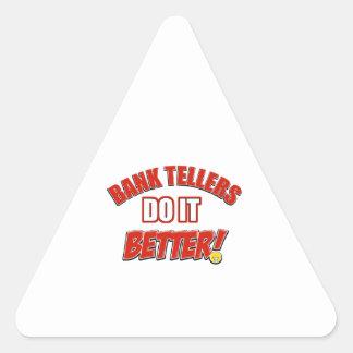 Bank Teller designs Triangle Sticker