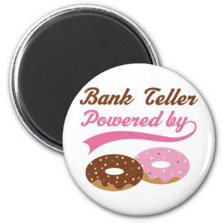 Bank Teller Gift Donuts Fridge Magnet