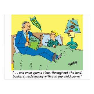 BANKER / BROKER / BEDTIME STORY /INVESTING POSTCARD