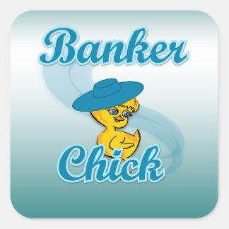 Banker Chick #3 Sticker