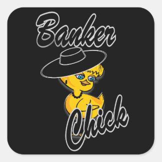 Banker Chick #4 Square Sticker