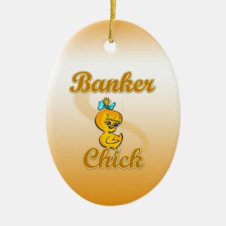 Banker Chick Ornaments