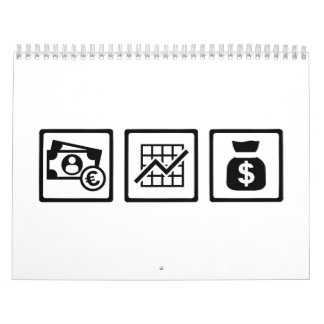 Banker finance logos calendar