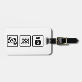 Banker finance logos bag tags