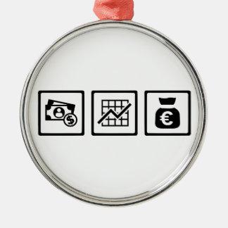 Banker finance symbols metal ornament
