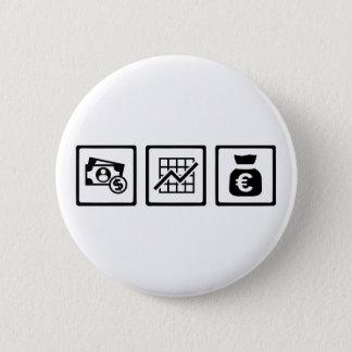 Banker finance symbols pinback button