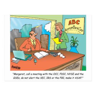 Banker / Financial / Stock Broker Postcard