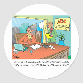 Banker / Financial / Stock Broker Round Sticker