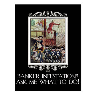 Banker Infestation?  Ask Me What To Do! Postcard