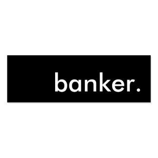 banker. mini business card