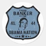 Banker Obama Nation Round Sticker