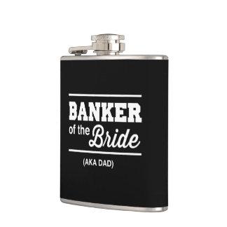 Banker of the Bride Hip Flask